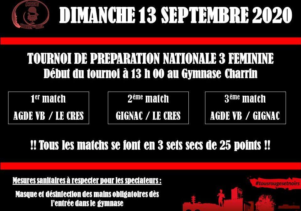 Tournoi de préparation Nationale 3 féminine !